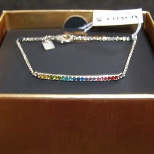 Coach Rainbow Bar Bracelet